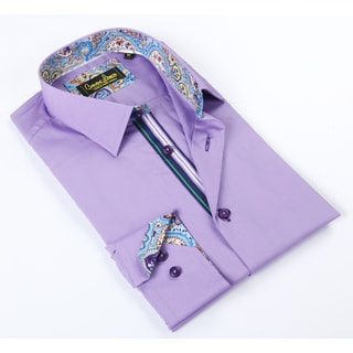 Banana Lemon Classic Button-down Lavendar Dress Shirt