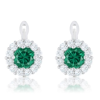 Kate Bissett Emerald Simple Drop Earrings