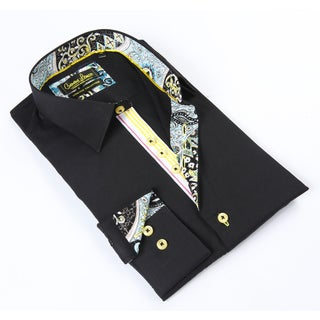 Banana Lemon Classic Button-down Black Dress Shirt