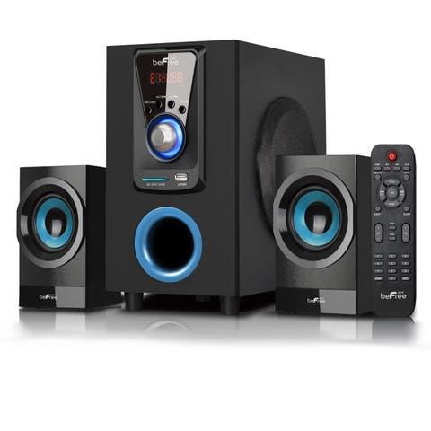 beFree Sound 2.1 Channel Surround Sound Bluetooth Black Speaker System