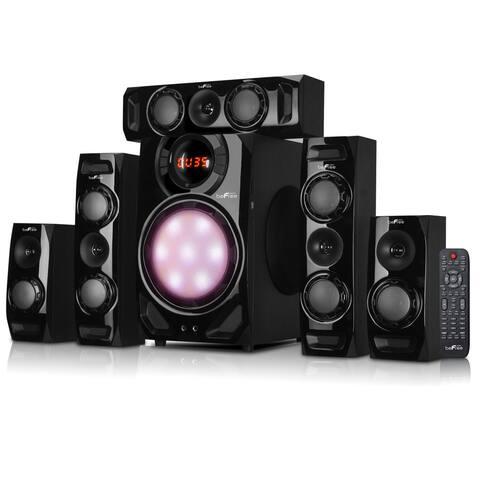 BeFree Sound 5.1 Channel Surround Sound Bluetooth Black Speaker System