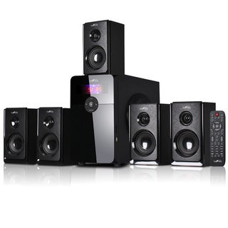beFree Sound Black Bluetooth 5.1 Channel Surround Sound Speaker System