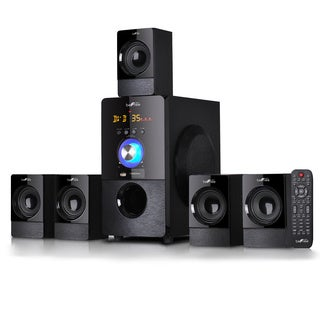 beFree Sound 5.1 Channel Black Surround Sound Bluetooth Speaker System