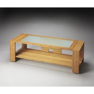 Butler Ivanhoe Bamboo and Glass Entertainment Console