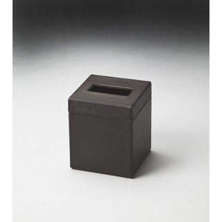 Butler Lido Brown Leather Tissue Box