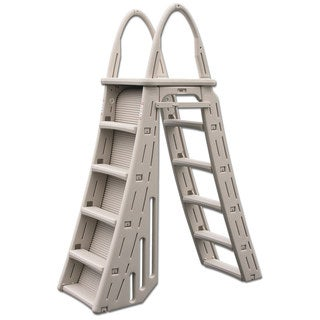 Confer Plastics Roll Guard A-Frame Adjustable Pool Ladder