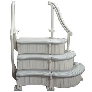 Confer In-ground Grey and Taupe Resin Swimming Pool Curve Step System