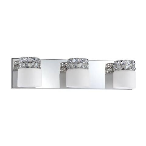 Ines 3-Light Chrome Bath Vanity