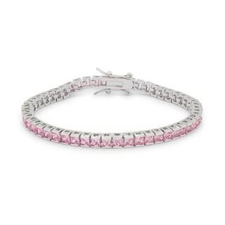 Kate Bissett 10.8-carat Pink Cubic Zirconia Tennis Bracelet
