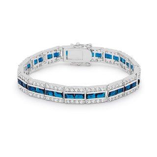 Kate Bissett Silver Brass Blue Cubic Zirconia Bracelet