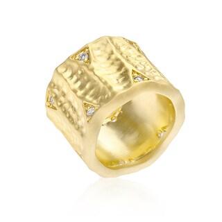 Kate Bissett Textured Organic Matte Golden Eternity Ring