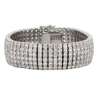 Kate Bissett Silver Brass Cubic Zirconia Bracelet