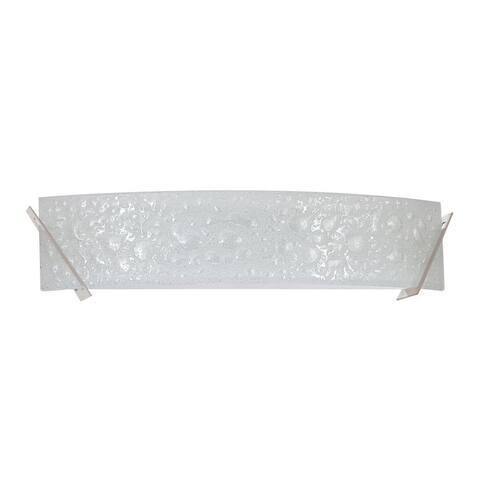Mia 4-Light Satin Nickel Bath Vanity - Silver