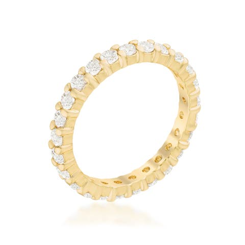 Kate Bissett Goldtone Cubic Zirconia Eternity Band