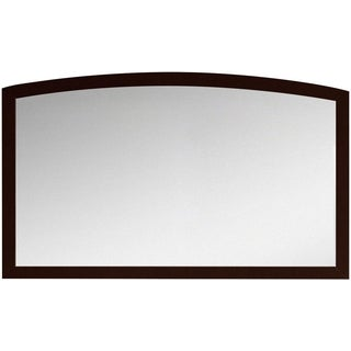47.24-in. W x 25.6-in. H Modern Birch Wood-Veneer Wood Mirror In Coffee