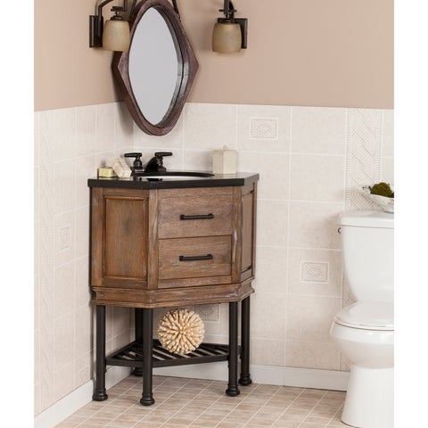Harper Blvd Ballard Granite Top Corner Bath Vanity Sink