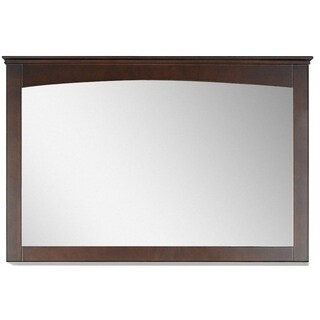 48-in. W x 31.5-in. H Modern Plywood-Veneer Wood Mirror In Walnut