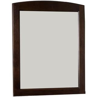 24-in. W x 31-in. H Traditional Birch Wood-Veneer Wood Mirror In Walnut