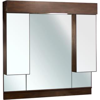 46-in. W x 46-in. H Transitional Birch Wood-Veneer Wood Mirror In Antique Cherry