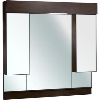 46-in. W x 46-in. H Transitional Birch Wood-Veneer Wood Mirror In Walnut
