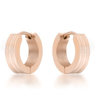 Kate Bissett Marlene Rose Gold Stainless Steel Small Hoop Earrings