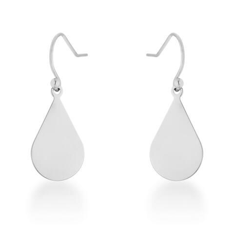 Kate Bissett Karla White Stainless Steel Teardrop Earrings