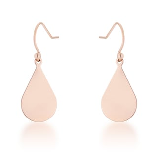 Kate Bissett Karla 18k Rose Gold Stainless Steel Teardrop Earrings