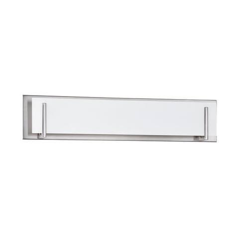 Doug 5-Light Satin Nickel Bath Vanity - Silver