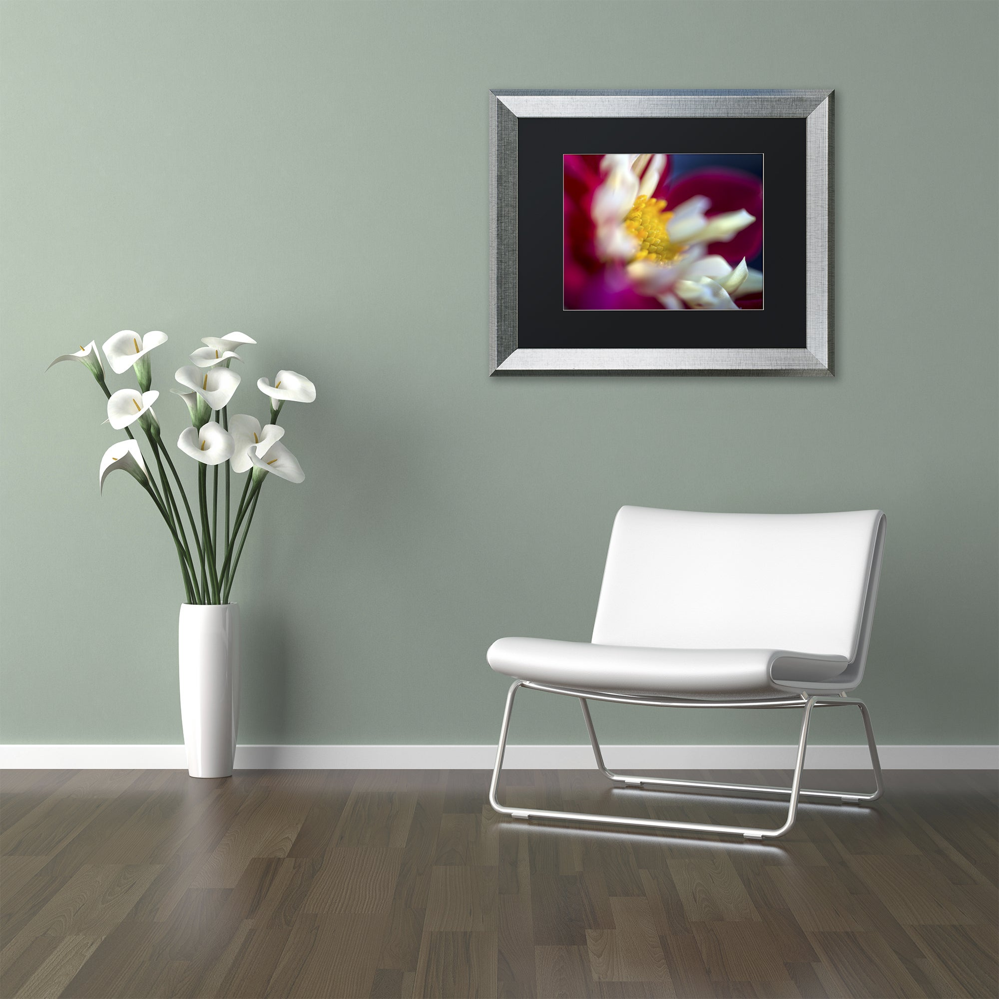 Kurt Shaffer A Different Kind Of Dahlia Matted Framed Art Overstock 12052061