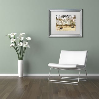 Philippe Hugonnard 'Coney Island Beach' Matted Framed Art