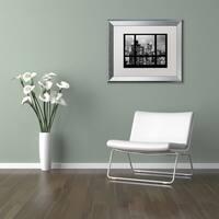 Philippe Hugonnard 'Window View Manhattan BW' Matted Framed Art