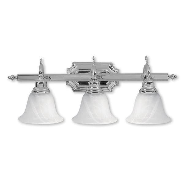 Livex Lighting French Regency 3 Light Polished Chrome Bath Vanity Polished Chrome Polished Chrome Overstock 12052239