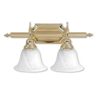 Livex Lighting French Regency Polished Brass 2-light Bath Light