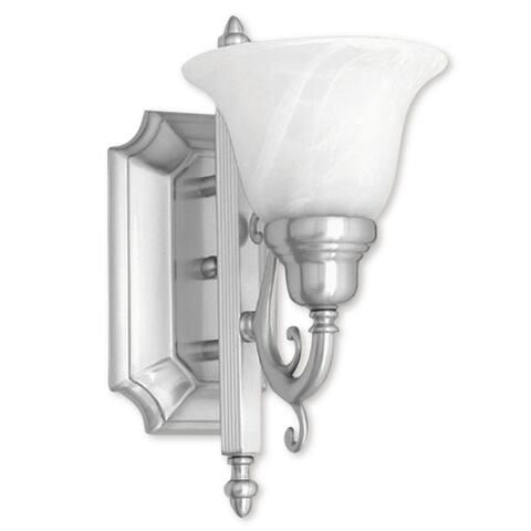 Livex Lighting French Regency 1 Light Brushed Nickel Bath Vanity - Brushed nickel