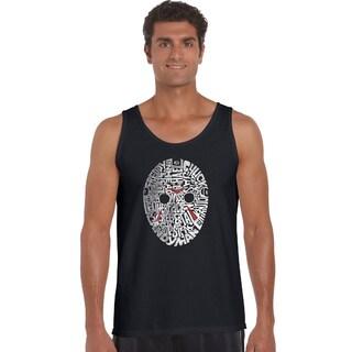 Los Angeles Pop Art Men's Black Cotton Graphic Tank Top (More options available)