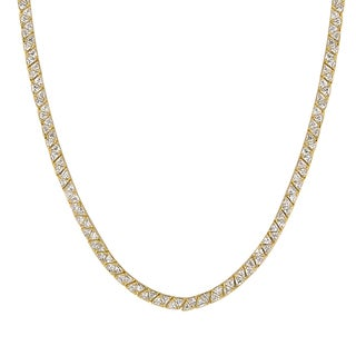 Kate Bissett Remembrance Brass Cubic Zirconia Necklace