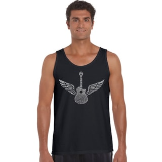 Los Angeles Pop Art Men's 'Amazing Grace' Various Colors Cotton Tank Top