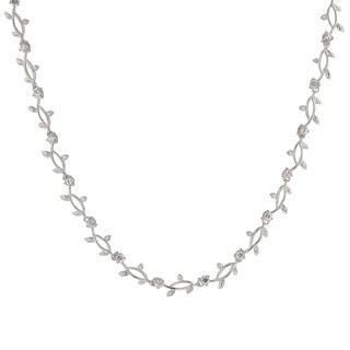 Kate Bissett Silvertone Brass Cubic Zirconia Vineyard Necklace