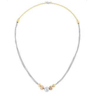 Kate Bissett Bella 18k Gold Stainless Steel Layered Ball Statement Necklace