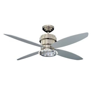 Tara 4-Light 52-in. Polished Nickel  Ceiling Fan