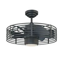 Gary Black Metal 1-light 23-inch Ceiling Fan