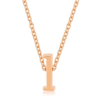Kate Bissett Rose Gold Brass Initial L Pendant