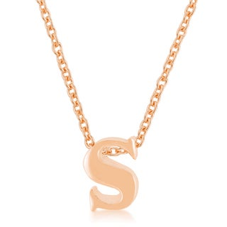 Kate Bissett Rose Gold Brass Initial 'S' Pendant