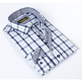 Banana Lemon Classic Button Down Plaid Dress Shirt