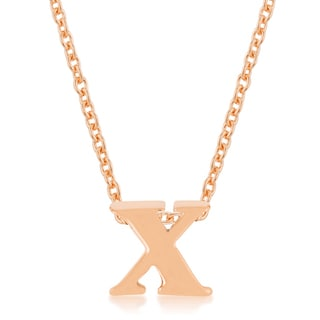 Kate Bissett 18k Gold Initial x Pendant Necklace