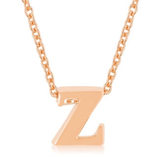 Kate Bissett Brass Initial Z Pendant Necklace