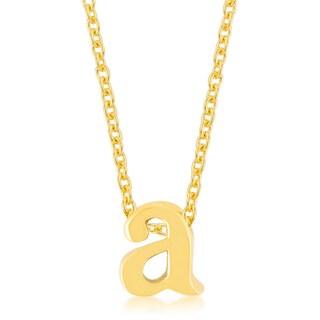 Kate Bissett Gold Brass Initial A Pendant
