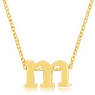 Kate Bissett Golden M Initial Pendant