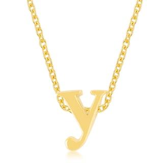Kate Bissett Golden Brass Initial Y Pendant