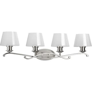 Progress Lighting Dazzle Silver Steel 4-light Vanity Bathroom Light